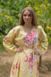 """Shape Me Pretty"" kaftan in Cabbage Roses pattern"