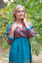"""Shape Me Pretty"" kaftan in Cheerful Paisleys pattern"