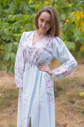 """Shape Me Pretty"" kaftan in Cherry Blossoms pattern"