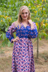 """Shape Me Pretty"" kaftan in Chevron Dots pattern"