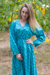 """Shape Me Pretty"" kaftan in Chevron pattern"