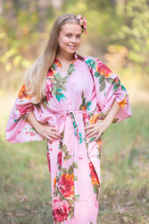 """Oriental Delight"" kaftan in Large Floral Blossom pattern"