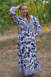 """Shape Me Pretty"" kaftan in Classic White Black pattern"