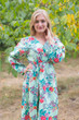 """Shape Me Pretty"" kaftan in Cute Bows pattern"