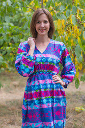"""Shape Me Pretty"" kaftan in Diamond Aztec pattern"