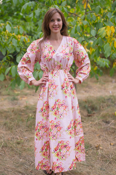 """Shape Me Pretty"" kaftan in Floral Posy pattern"