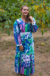 """Shape Me Pretty"" kaftan in Floral Watercolor Painting pattern"