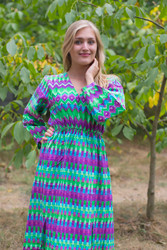"""Shape Me Pretty"" kaftan in Geometrica pattern"
