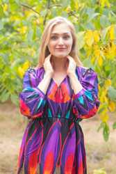 """Shape Me Pretty"" kaftan in Glowing Flame pattern"