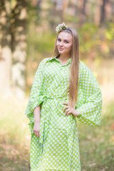 """Oriental Delight"" kaftan in Polka Dots pattern"