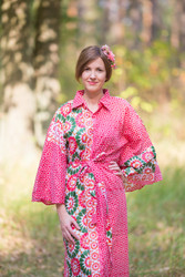 """Oriental Delight"" kaftan in Round and Round pattern"