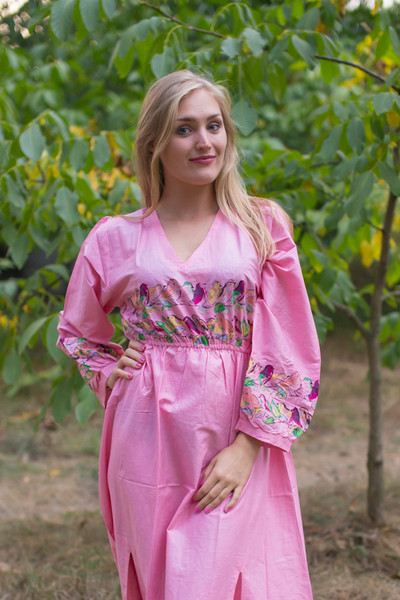 """Shape Me Pretty"" kaftan in Little Chirpies pattern"