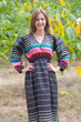 """Shape Me Pretty"" kaftan in Multicolored Stripes pattern"