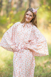 """Oriental Delight"" kaftan in Starry Florals pattern"