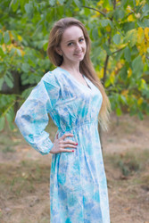 """Shape Me Pretty"" kaftan in Ombre Fading Leaves pattern"