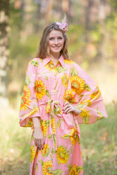 """Oriental Delight"" kaftan in Sunflower Sweet pattern"