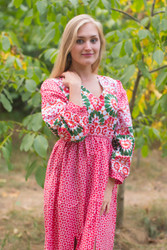 """Shape Me Pretty"" kaftan in Round and Round pattern"