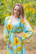 """Shape Me Pretty"" kaftan in Sunflower Sweet pattern"