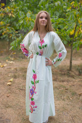 """Shape Me Pretty"" kaftan in Swirly Floral pattern"
