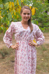 """Shape Me Pretty"" kaftan in Tiny Blossoms pattern"