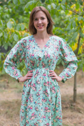 """Shape Me Pretty"" kaftan in Vintage Chic Floral pattern"