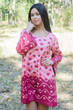 """Bella Tunic"" kaftan dress in Chevron Dots pattern"