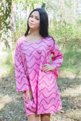 """Bella Tunic"" kaftan dress in Chevron pattern"