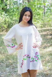 """Bella Tunic"" kaftan dress in Climbing Vines pattern"