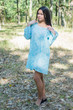 """Bella Tunic"" kaftan dress in Damask pattern"