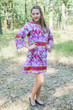 """Bella Tunic"" kaftan dress in Diamond Aztec pattern"