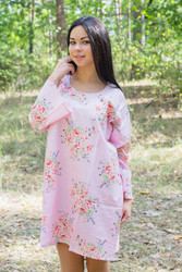 """Bella Tunic"" kaftan dress in Faded Flowers pattern"
