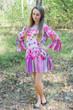 """Bella Tunic"" kaftan dress in Floral Watercolor Painting pattern"