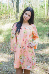 """Bella Tunic"" kaftan dress in Flower Rain pattern"