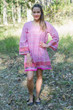 """Bella Tunic"" kaftan dress in Geometric Chevron pattern"
