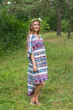 """High Low Wind Flow"" kaftan in Aztec Geometric pattern"