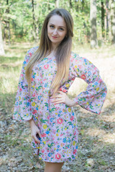 """Bella Tunic"" kaftan dress in Happy Flowers pattern"