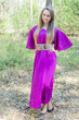 """Luscious Lace"" kaftan in Purple"