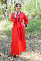 """Luscious Lace"" kaftan in Red"