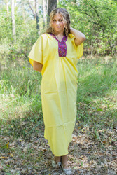 """Luscious Lace"" kaftan in Yellow"