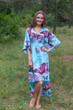 """High Low Wind Flow"" kaftan in Butterfly Baby pattern"