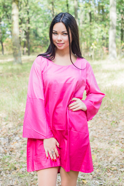 """Bella Tunic"" kaftan dress in Ombre TieDye pattern"