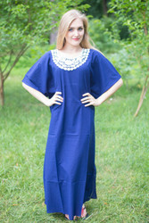 """Luscious Lace"" kaftan in Dark Blue"