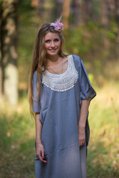 """Luscious Lace"" kaftan in Gray"