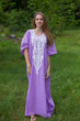 """Luscious Lace"" kaftan in Lilac"