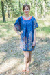 """""""Summer Celebration"""" Tunic Dress kaftan in Abstract Floral pattern"""