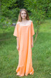 """Luscious Lace"" kaftan in Peach"