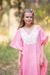 """Luscious Lace"" kaftan in Pink"