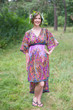 """High Low Wind Flow"" kaftan in Cheerful Paisleys pattern"