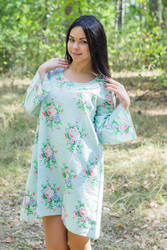 """Bella Tunic"" kaftan dress in Pink Peonies pattern"