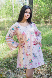 """Bella Tunic"" kaftan dress in Romantic Florals pattern"